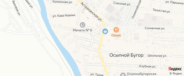 Советская улица на карте села Осыпного Бугра с номерами домов