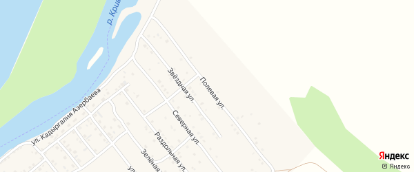 Полевая улица на карте села Растопуловки с номерами домов