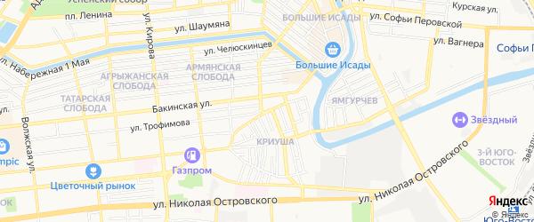 СТ Садовод санатория им Крупской на карте Астрахани с номерами домов