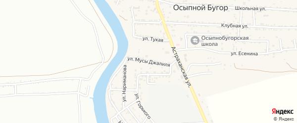 Улица М.Джалиля на карте села Осыпного Бугра с номерами домов