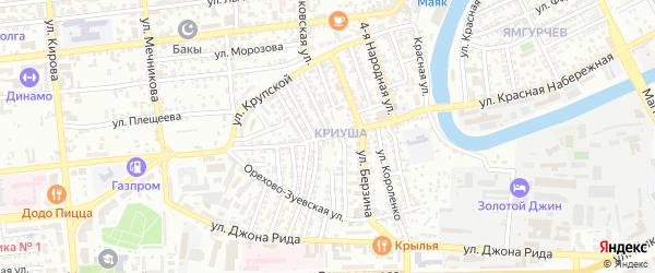 Главно-продольная улица на карте Астрахани с номерами домов