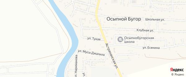 Тукая улица на карте села Осыпного Бугра с номерами домов