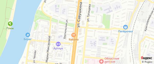 Улица Савушкина на карте Астрахани с номерами домов