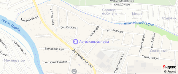 Улица Мира на карте села Осыпного Бугра с номерами домов