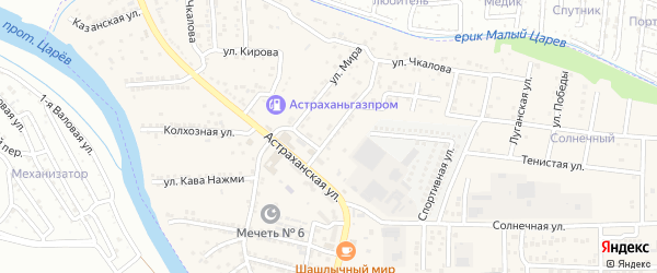 Новая улица на карте села Осыпного Бугра с номерами домов
