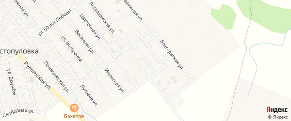 Улица имени Расула Сабъяева на карте села Растопуловки с номерами домов
