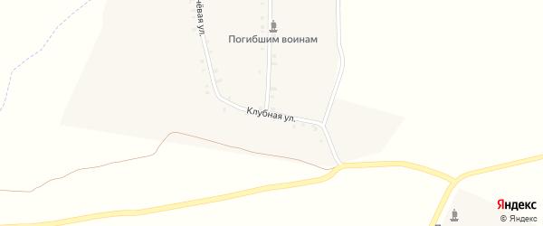 Клубная улица на карте деревни Кинеры с номерами домов
