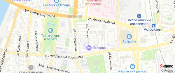 Улица Ляхова на карте Астрахани с номерами домов