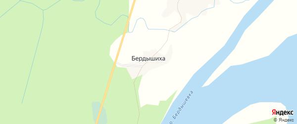 Карта деревни Бердышихи в Архангельской области с улицами и номерами домов