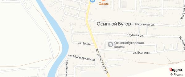 Астраханская улица на карте села Осыпного Бугра с номерами домов