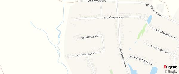 Улица Чапаева на карте села Большие Яльчики с номерами домов