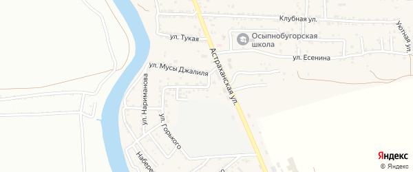 Улица Горького на карте села Осыпного Бугра с номерами домов
