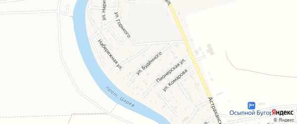 Улица Буденного на карте села Осыпного Бугра с номерами домов