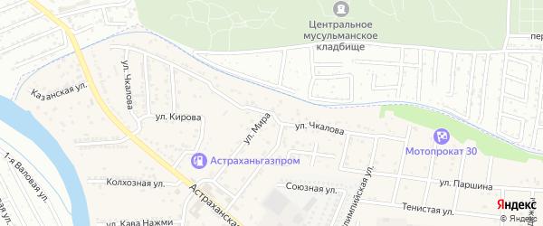 Улица Чкалова на карте села Осыпного Бугра с номерами домов