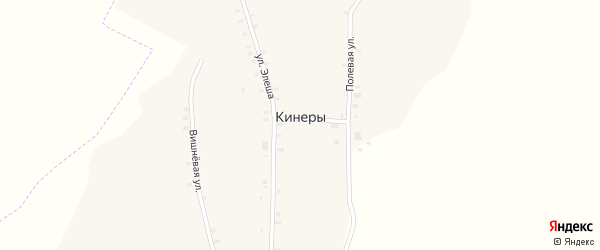 Вишневая улица на карте деревни Кинеры с номерами домов