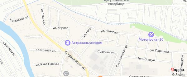 Рабочая улица на карте села Осыпного Бугра с номерами домов