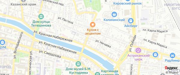 Улица Нечаева на карте Астрахани с номерами домов