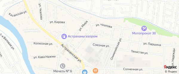 Улица Паршина на карте села Осыпного Бугра с номерами домов