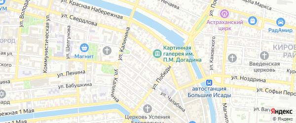 Саратовская улица на карте Астрахани с номерами домов