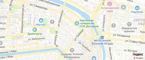 Улица Наташи Качуевской на карте Астрахани с номерами домов