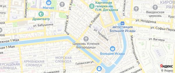 Улица Маяковского на карте Астрахани с номерами домов