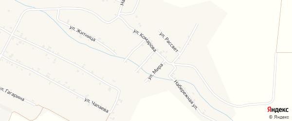 Овражная улица на карте села Шигали с номерами домов
