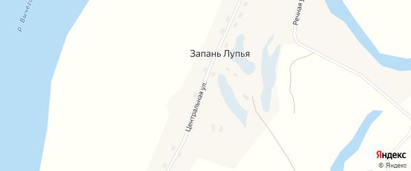 Речная улица на карте поселка Запани Лупья с номерами домов