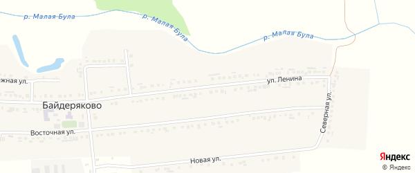 Улица Ленина на карте села Байдеряково с номерами домов