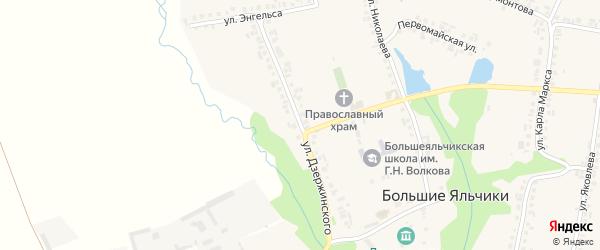 Улица Дзержинского на карте села Большие Яльчики с номерами домов