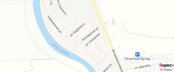 Пионерская улица на карте села Осыпного Бугра с номерами домов