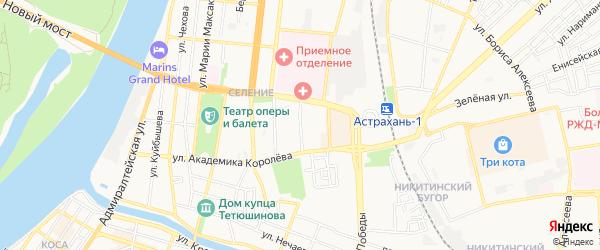 ГСК Степана Здоровцева на карте Астрахани с номерами домов