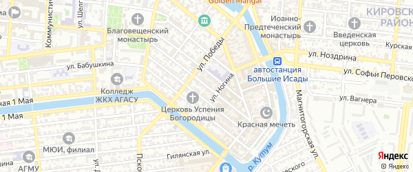 Интернациональная 3-я улица на карте Астрахани с номерами домов