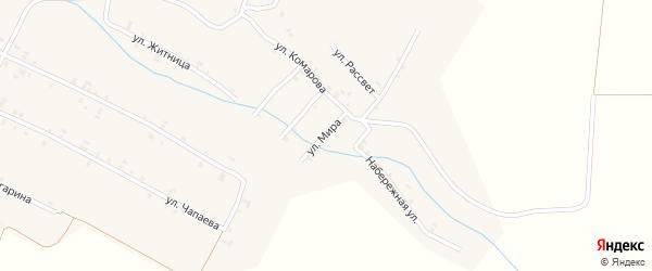 Улица Мира на карте села Шигали с номерами домов