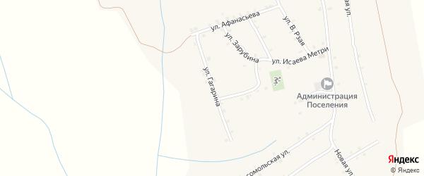 Улица Гагарина на карте села Ковали с номерами домов
