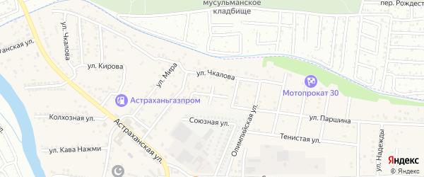 Строительная улица на карте села Осыпного Бугра с номерами домов