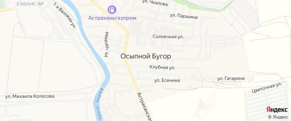 СТ Абрикос на карте села Осыпного Бугра с номерами домов