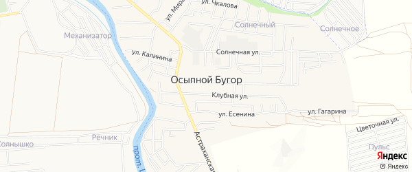СТ сдт Солнечное совхоза Фунтовский на карте села Осыпного Бугра с номерами домов