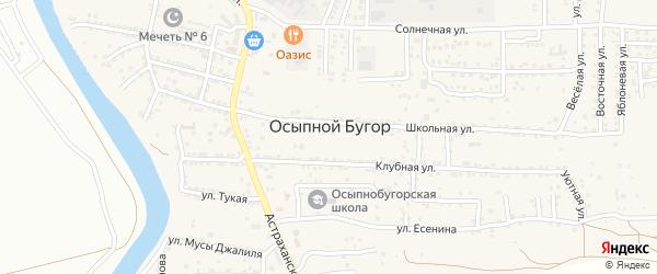 Улица Ассии Эрембетовой на карте села Осыпного Бугра с номерами домов