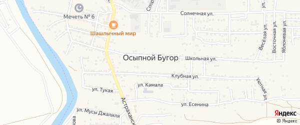 Улица Кави-Нажми на карте села Осыпного Бугра с номерами домов
