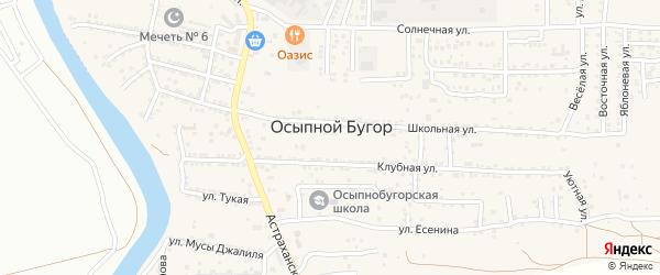 Улица Ильгама Шакирова на карте села Осыпного Бугра с номерами домов