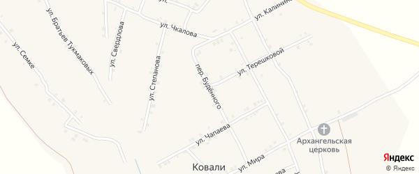 Переулок Буденного на карте села Ковали с номерами домов
