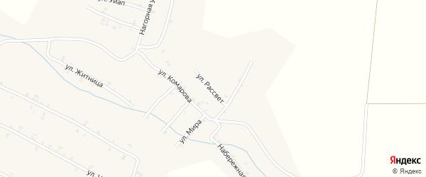 Улица Рассвет на карте села Шигали с номерами домов