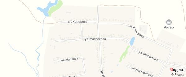 Улица Матросова на карте села Большие Яльчики с номерами домов