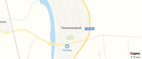 Улица Дачников на карте Тальникового поселка с номерами домов
