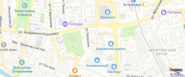 Вокзальный 1-й переулок на карте Астрахани с номерами домов