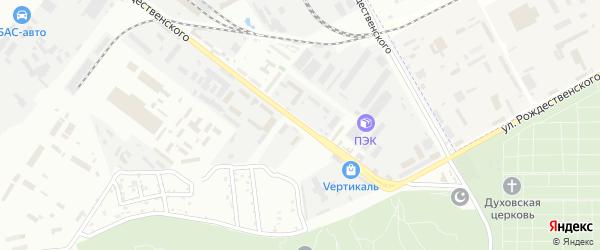 Улица Рождественского на карте промышленной зоны Кулаковского промузел с номерами домов