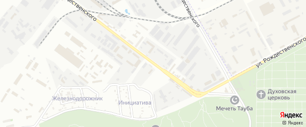 Улица Рождественского на карте Астрахани с номерами домов