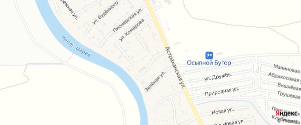 Астраханский переулок на карте села Осыпного Бугра с номерами домов