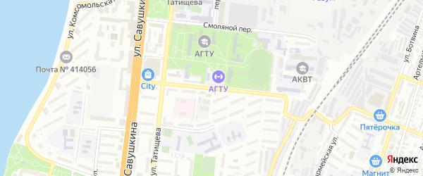 Улица 28 Армии на карте Астрахани с номерами домов