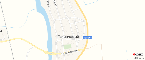 Восточная улица на карте Тальникового поселка с номерами домов